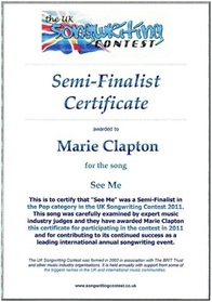 The uk songwriting contest official home every song receives a certificate click the image for details yadclub Gallery